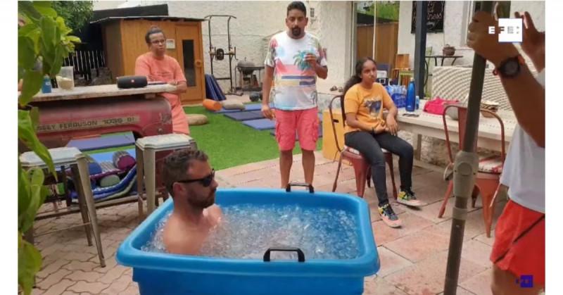 Así funcionan los baños de hielo en Dubái para combatir los intensos calores y el estrés
