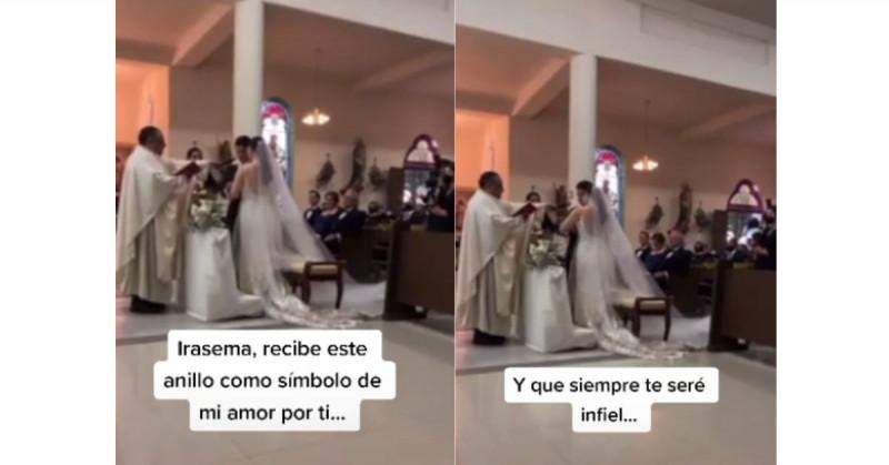 """""""Siempre te seré infiel"""": Hombre se equivoca en su boda y se vuelve viral (video)"""