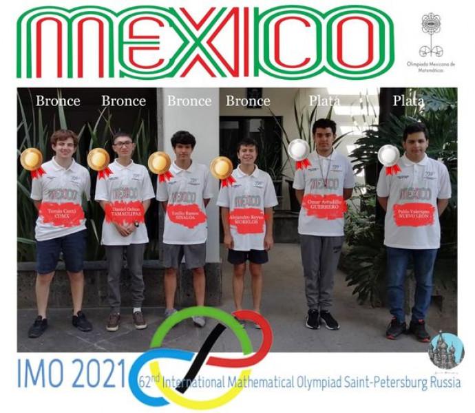 México obtiene medallas en olimpiada de matemáticas