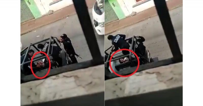 Indigna video de brutalidad de policías municipales a mujer sometida