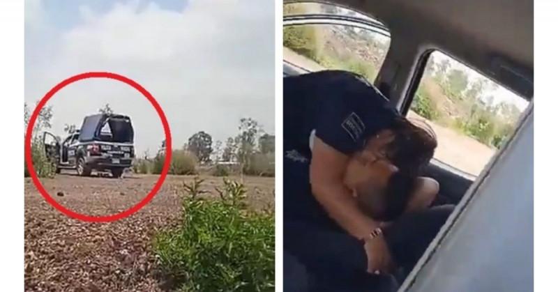 Dan de baja a policías municipales que fueron grabados teniendo sexo en su patrulla