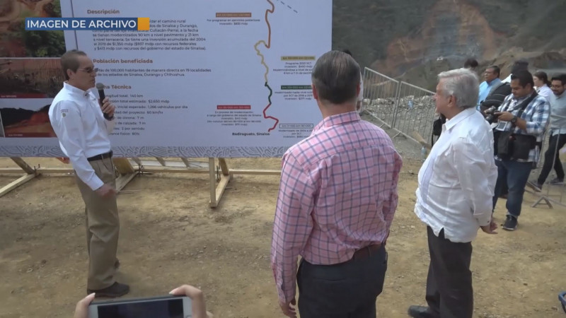 La visita a Sinaloa solo es para supervisar obras carreteras que conecta con estados vecinos