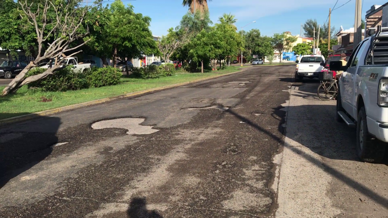 Avenida del Delfín en pésimo estado