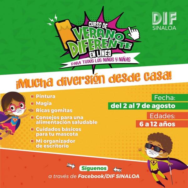 DIF Sinaloa invita a participar en cursos de verano en línea