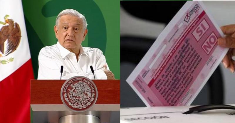 """AMLO dice que la consulta no fue un """"fracaso"""" y culpa al INE de la baja participación ciudadana"""