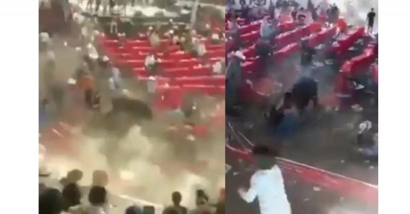 10 personas lesionadas por toro que se metió a las gradas en jaripeo de Michoacán (video)