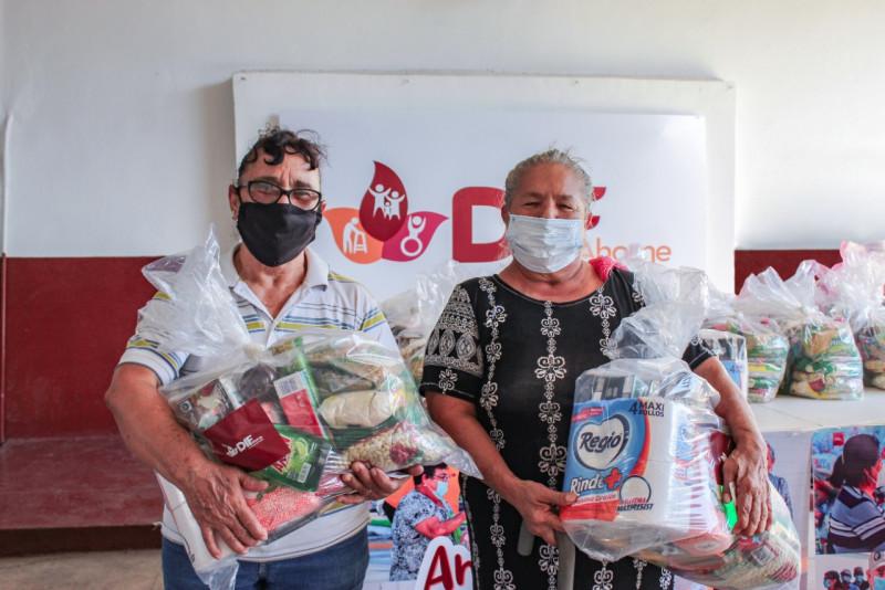 Continua DIF Ahome entregando despensas a los adultos mayores