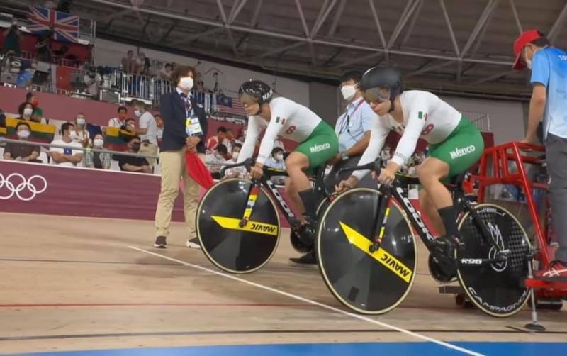 La sinaloense Luz Daniela Gaxiola avanza a cuartos de final en la prueba de keirin en ciclismo de JO