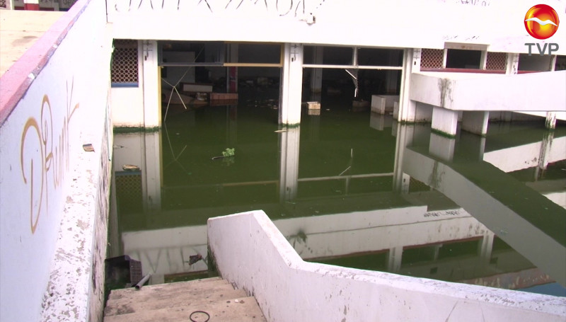 Inundada la planta baja del antiguo Hospital General de Mazatlán