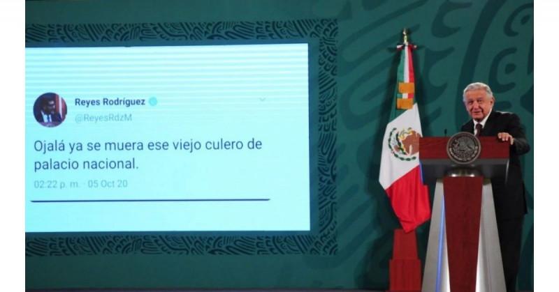 AMLO exhibe supuesto tweet del nuevo presidente del Tribunal Electoral que le deseó la muerte
