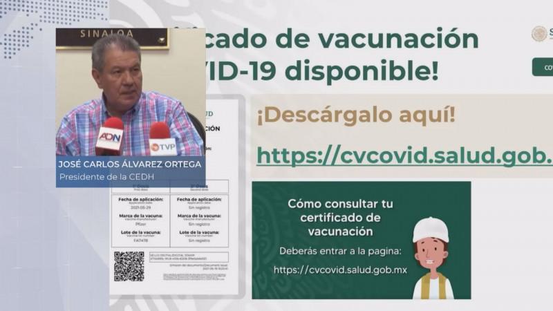 Recibe CEDH 3 quejas contra ayuntamiento de Mazatlán por certificados COVID