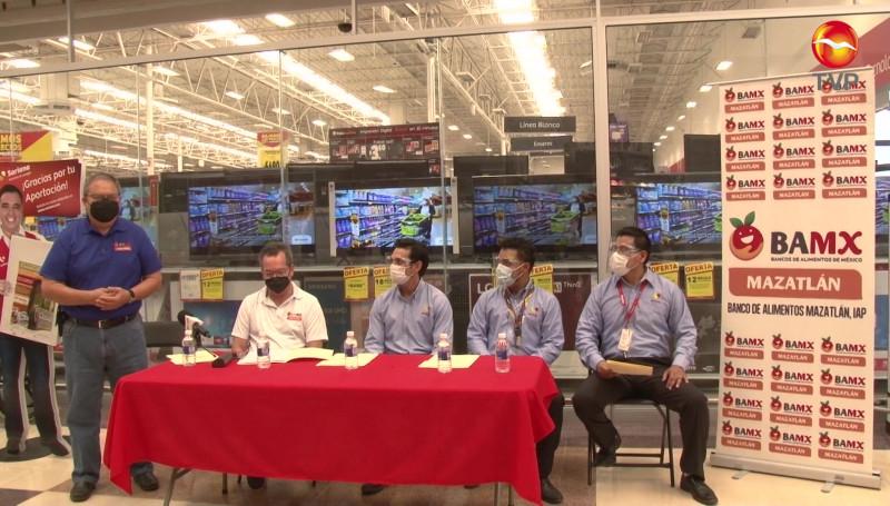 Anuncia Banco de Alimentos de Mazatlán campaña de redondeo con tienda de autoservicios