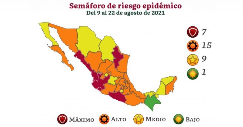 Sinaloa estará otras dos semanas en semáforo rojo y Sonora queda en naranja