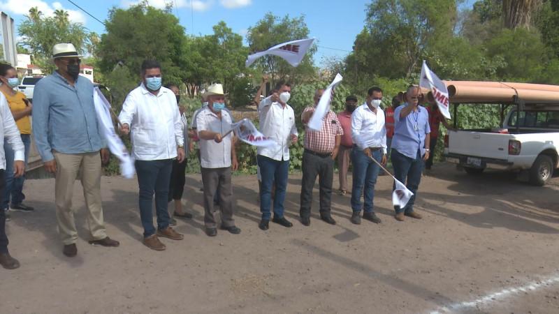 Introducirán red de drenaje y agua potable en Águila Azteca, Ahome