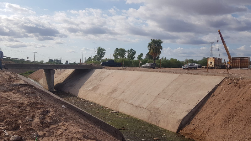 Concluye desvío del Dren Juárez