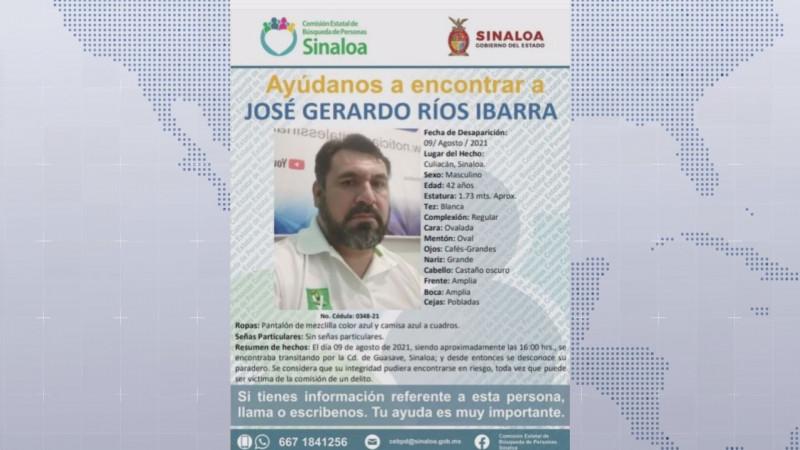 Sin rastro del paradero de Gerardo Ríos Ibarra