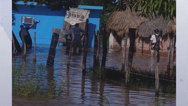 Las lluvias registradas en los ultimas días han generado inundaciones y habilitar albergues