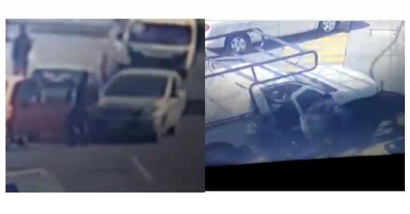 Atropellan y dan golpiza a ladrón que intentó robar un carro en el Edomex (video)