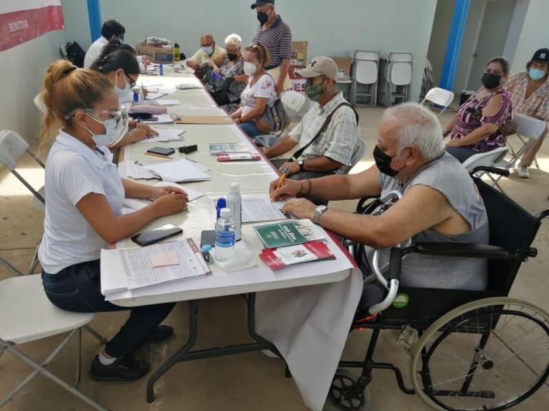 Más de 8 mil adultos mayores de 65 años se han registrado para su pensión para el bienestar