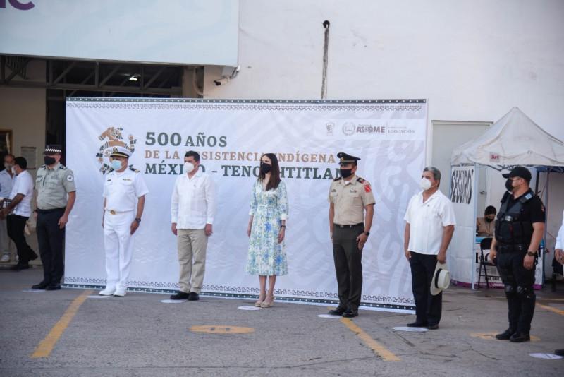 Celebran autoridades de Ahome los 500 años de resistencia indígena de México-Tenochtitlan