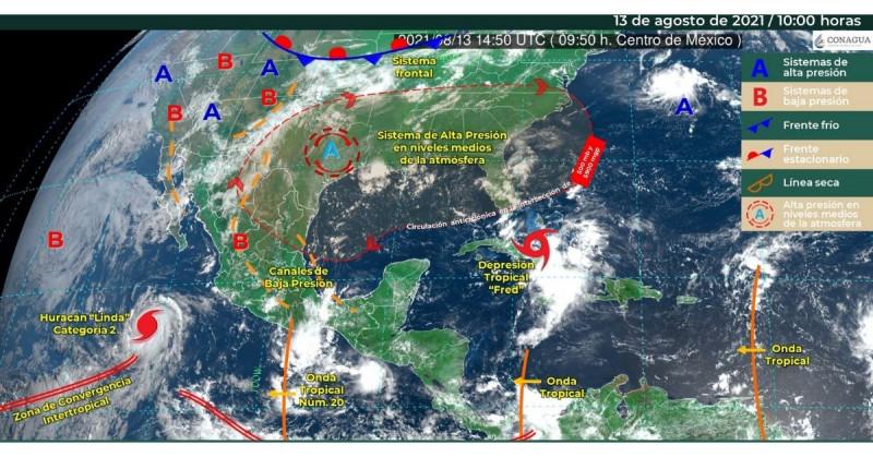 El huracán Linda aumenta a categoría 2 en el Pacífico Mexicano