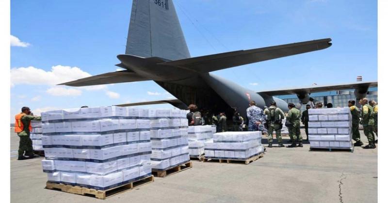 México envía 19 toneladas de víveres e insumos a Haití por el terremoto