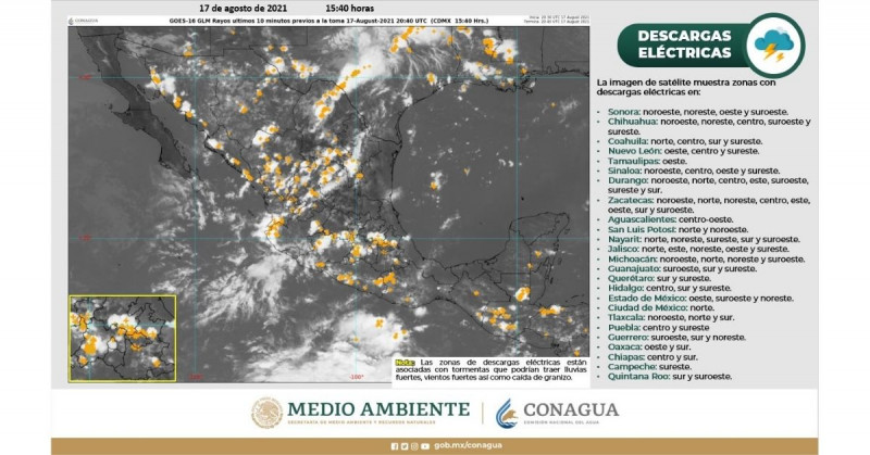 CONAGUA prevé que el huracán Grace impactará doble en México en categoría 3 o 4