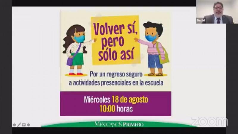 Mexicanos Primero dice ¡Volver sí, pero sólo así!