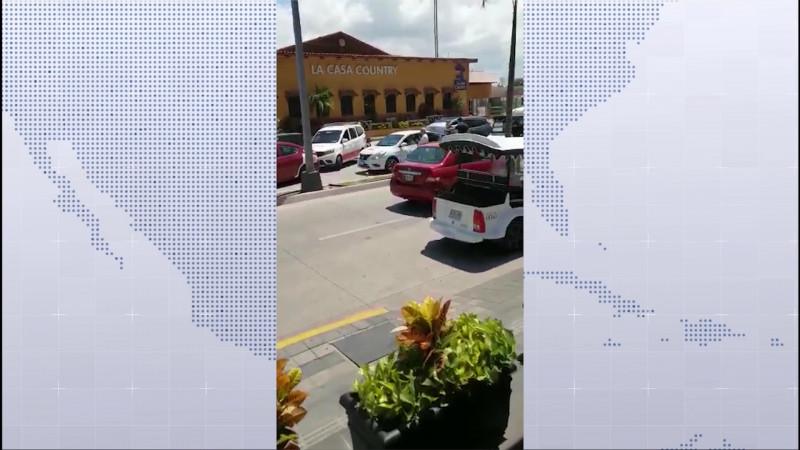 Asegura Chollet que se sancionó a taxistas que participaron en bloqueo