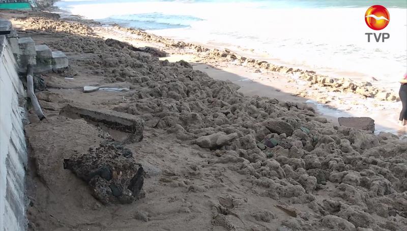 Desplazamiento de la arena en playas de Mazatlán se debe al alto nivel del mar