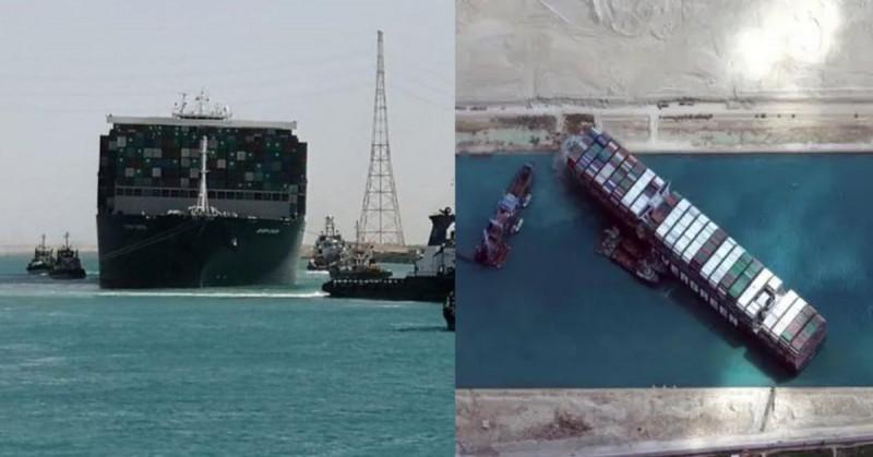 """""""Ever Given"""" atraviesa sin problemas el canal de Suez tras bloquearlo en marzo"""