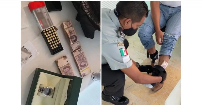 Detienen a hombre con 450 mil pesos escondidos en sus tobillos en aeropuerto de Yucatán