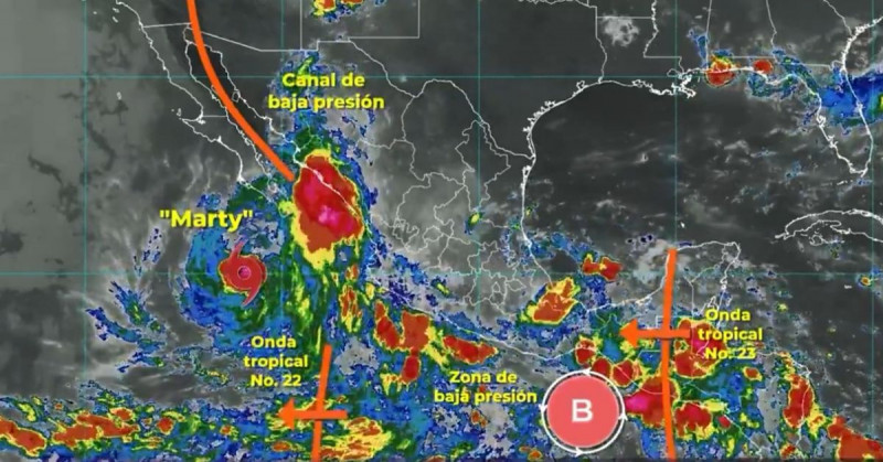 Tormenta Marty nace en el Pacífico a partir de remanentes del ciclón Grace