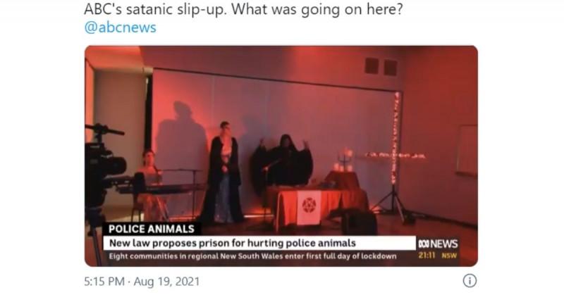 Noticiero australiano transmite ritual satánico por error (video)