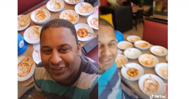Hombre entra a buffet y tras comer 15 platos lo corren del lugar