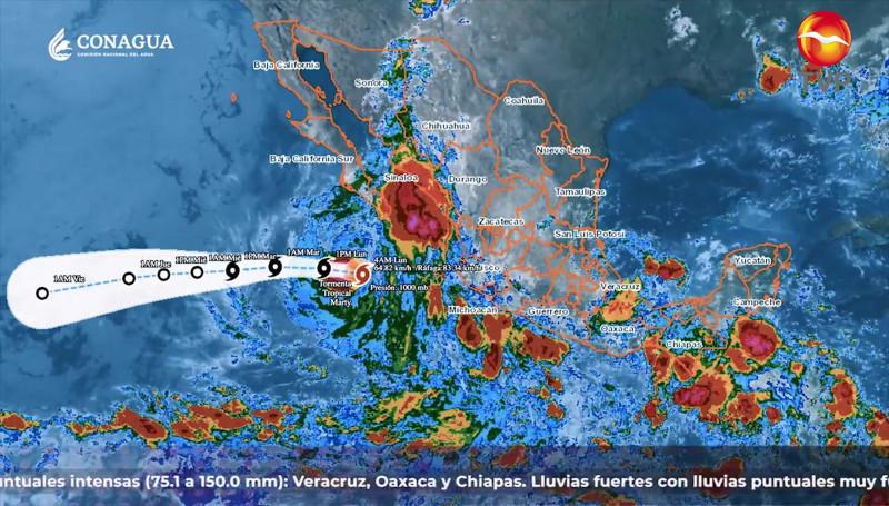 Hay pronóstico de precipitaciones para Sinaloa: SML