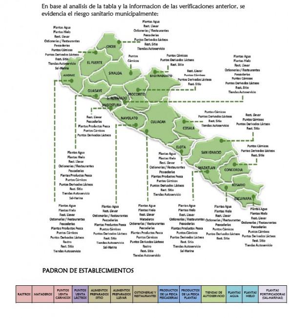 Sinaloa cuenta con un Mapa Estatal de Riesgos Sanitarios