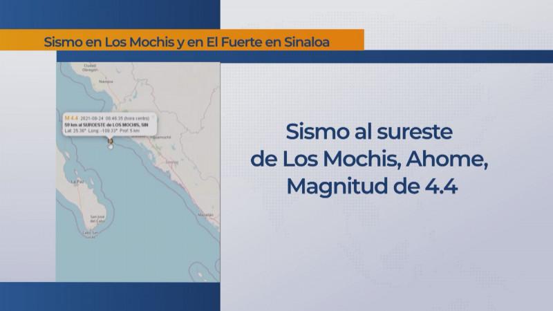 Sin afectaciones en la zona norte por sismos