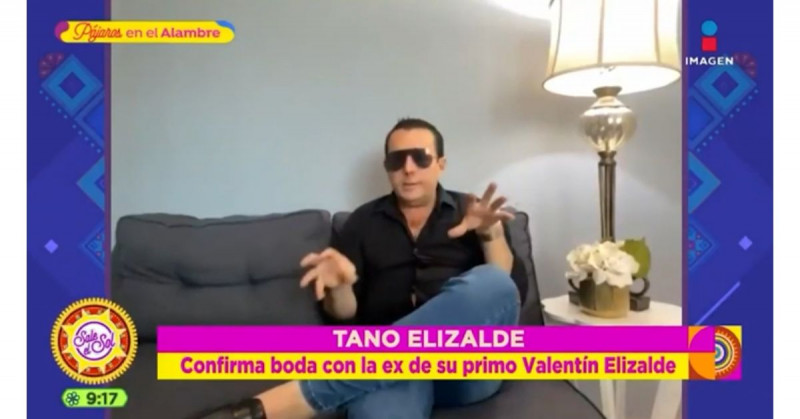 Tano Elizalde confirma boda con la ex esposa de su primo Valentín Elizalde