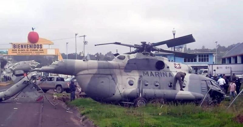 Así se desplomó el helicóptero en el que viajaba el Secretario de Gobierno de Veracruz (video)