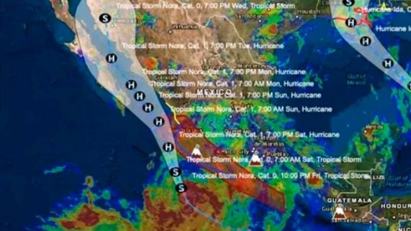Alerta: Nora ya es huracán; prevén inundaciones en estos estados