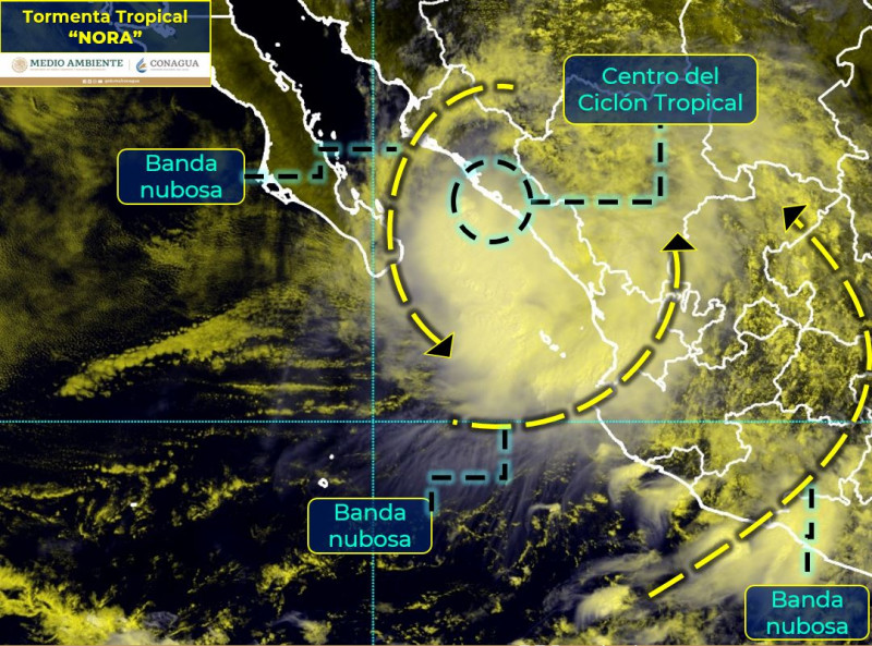 """Nora"" ya es tormenta tropical"