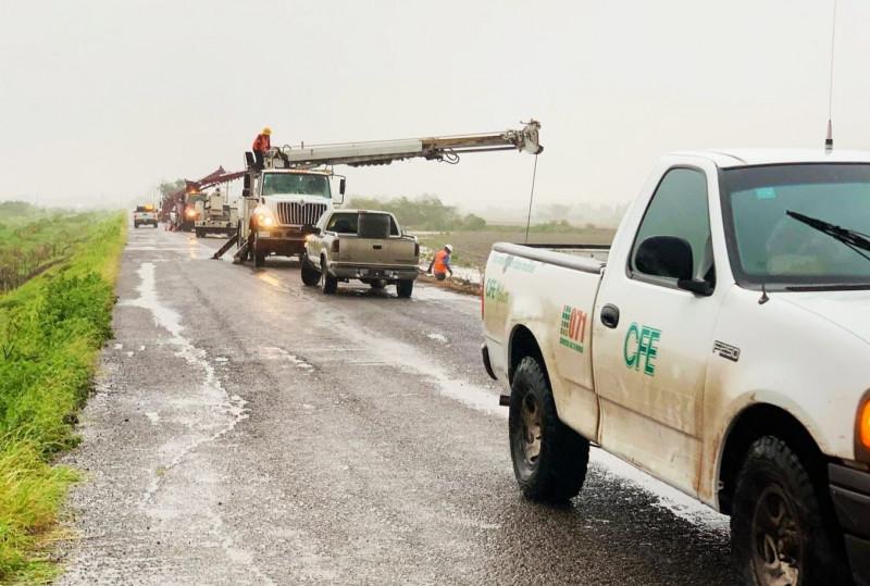 En Sinaloa  se lleva un 98% de restablecimiento eléctrico