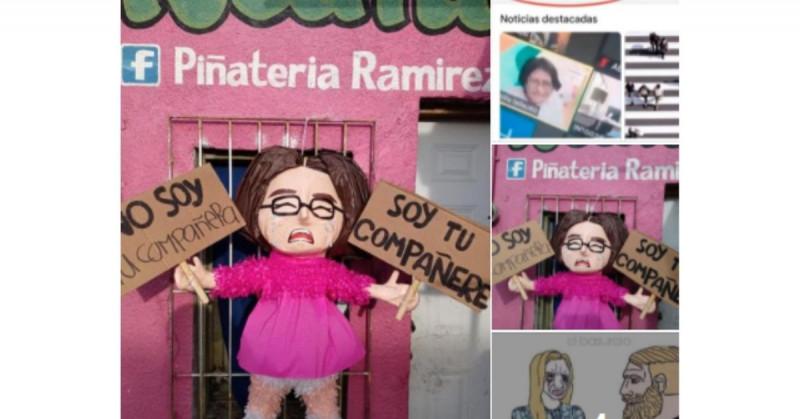 """Piñatería genera controversia por figura de Andra Escamilla de la polémica """"Compañere"""""""