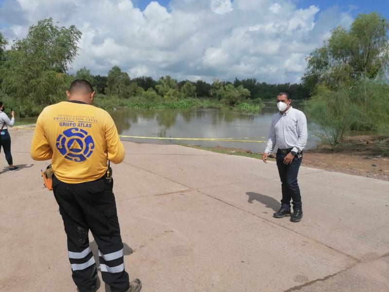 Por creciente del Río Fuerte cerrada la carretera hacia El Ranchito de Mochicahui