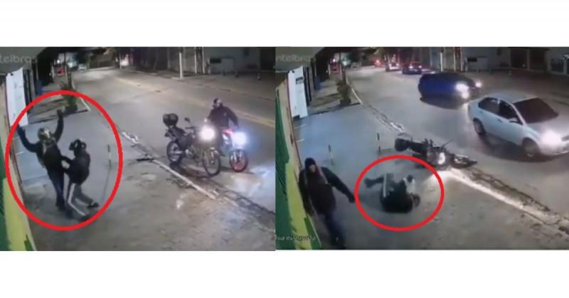 """""""Justiciero"""" dispara a hombre que estaba asaltando a motociclista (video)"""