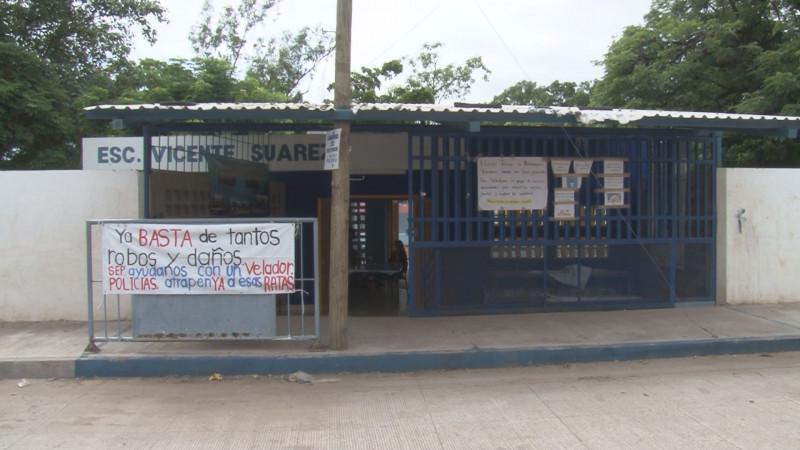 Los daños en las escuelas publicas no cesan