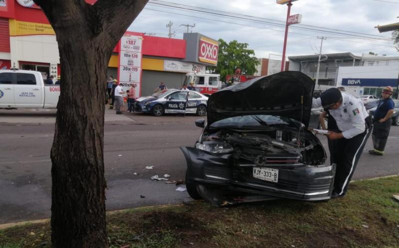 Accidente de tránsito deja solo heridos