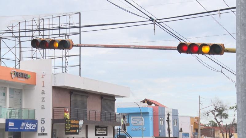 En preventivo los semáforos sobre Carranza