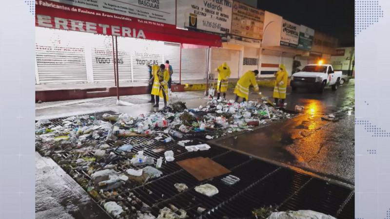 7 toneladas de basura fueron retiras tras las lluvias